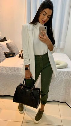 Dressy Casual Outfits, Classy Outfits, Stylish Outfits, Work Fashion, Fashion Outfits, Womens Fashion, Look Star, Look Office, Business Outfits Women