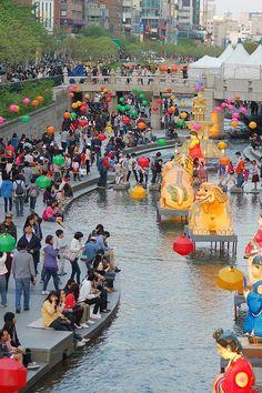 Cheonggyecheon, Seoul South Korea Festival