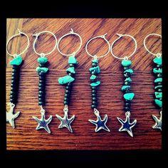 Sea Star wine charms- set of 6