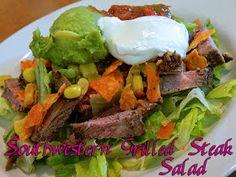 Eating Bariatric: Southwestern Grilled Steak Salad