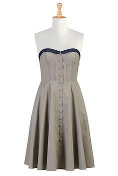 two tone corset style dress
