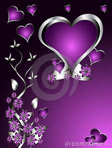 .....PURPLE, HEARTS & FLOWERS.... I DIFFENETLY LOVE THIS COMBO....