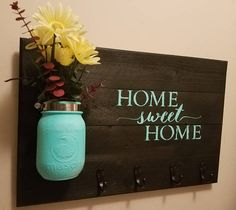 Rustic Home Decor Key Holder  Home DecorHome sweet Home
