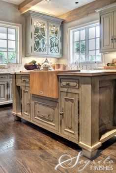 Secrets of Segreto distressed island textured finish