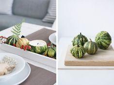 Eine schöne herbstliche Tischdekoration / Via sinnenrausch.blogspot.de