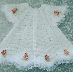 Discover thousands of images about Best 12 – Page 317714948710446835 – SkillOfKing. Crochet Baby Jacket, Crochet Lace Dress, Crochet Baby Clothes, Baby Knitting Patterns, Baby Patterns, Dress Patterns, Cute Baby Dresses, Little Girl Dresses, Vestidos Bebe Crochet