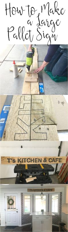 I love pallets! A great way to make stuff for FREE. Learn how to make a large pallet sign.