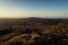 The Brown Clee from Titterstone Clee Hill in Shropshire at sunset on a beautiful evening Landscape Photography, Mountains, Sunset, Brown, Distance, Travel, Image, Beautiful, Viajes