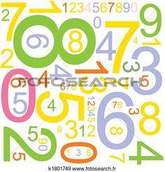 fond, à, nombres Voir Illustration Grand Format