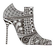 Banar Designs: New Zentangles- Shoe fetish