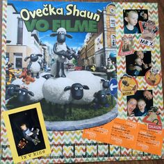 This was the first movie my son seen in cinema. Shaun the Sheep. Happy to be there with him! I keep tickets and stick them in. Shaun The Sheep, Scrapbook Pages, Cinema, Creative, Happy, Movies, Films, Ser Feliz, Movie