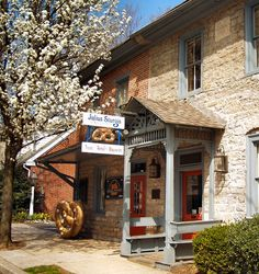 Sturgis Pretzel Bakery on East Main Street in Lititz PA. Founded in 1861 is America's oldest commercial pretzel bakery. Lititz Pennsylvania, Lancaster County Pennsylvania, Pennsylvania Dutch, Great Places, Places To See, Keystone State, Renz, Amish Country, Pretzel Bakery