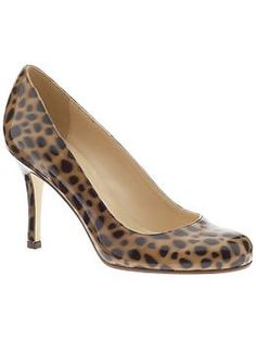 Words can't describe how much I love these Leopard Print Karolina shoes by Kate Spade. But at $219 they are a too pricey, as I really don't need them. They come in Coral, Turquoise, Python and Nude too. Drool.