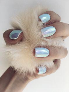 #nails , trendnails , nails2017 , summernails , bluenails , rainbow nails , маникюр, втирка , голубые ногти , нежность , радужный , летний маникюр