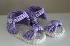 Crocheted baby sandals baby flip flops baby shoes by MadebyMeganM, $20.00