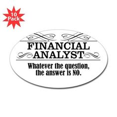 Financial Analyst Decal