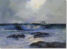 """Sailing the Sea"" Sydney Laurence."