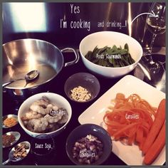 Crevettes-thai- Dog Bowls, Cooking, Thai Shrimp, Cooking Recipes, Kitchen, Brewing, Cuisine, Cook