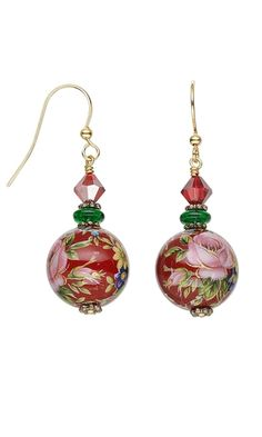 Earrings with Tensha Beads - Fire Mountain Gems and Beads