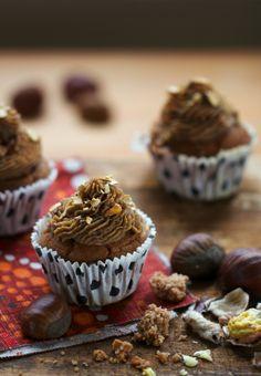 Saveurs Végétales: Cupcakes châtaigne & epices d✿uces {cannelle - vanille}