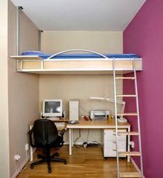 bedroom cobine work room