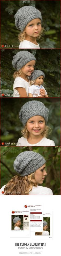 The Cooper Slouchy Hat Crochet Pattern