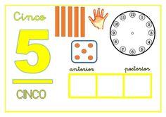 Preparando el material para nuestros números protagonistas. Early Math, Math Numbers, 1st Grade Math, Preschool Math, Activities For Kids, Classroom, Letters, Montessori, Teaching