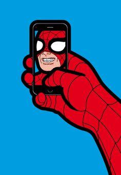 """Secret Life of Heroes"" Pop Art Wallpaper, Marvel Wallpaper, Cartoon Wallpaper, Pop Art Disney, Illustration Pop Art, Superhero Pop Art, Tableau Pop Art, Amazing Spiderman, Art Graphique"