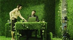 How's this for a green office? :)  (article actually has tips on making your office green)