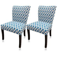 @Overstock - Give your home a new look with these fashionable chairs. This set of two chairs features fabric upholstery and an attractive finish.http://www.overstock.com/Home-Garden/Blue-Nile-Wingback-Chairs-Set-of-2/6839975/product.html?CID=214117 $206.99