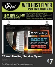 O2 Web Hosting Service Flyers