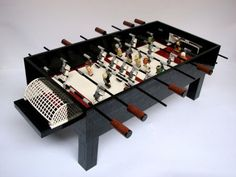 Star Wars foosball table Made Entirely with LEGO