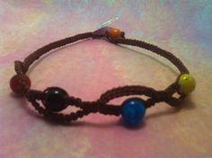 Bright Beaded #Macrame #Hemp #Necklace 1836 by #HemptressDesigns, $10.00 hemptressdesigns.com