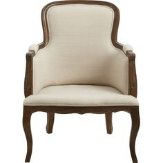 With its classic French country-inspired design, this handcrafted accent chair makes the perfect finishing touch in a cozy, feminine space-but its timeless l...