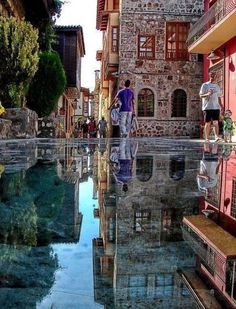 The Amazing Stone Mirror in Istanbul , Turkey