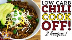 Low Carb CHILI COOK-OFF - The BEST Keto Chili Recipe! - YouTube Low Carb Chili Recipe, Chili Recipes, Low Carb Recipes, Real Food Recipes, Cooking Recipes, Low Carb Ranch Dressing, Chili Cook Off, Chili Chili, Create A Cookbook