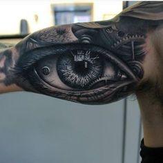 Realistic Eye Tattoo