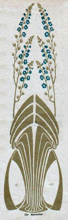 Christian Neureuther, Jugend magazine, 1903. Via.