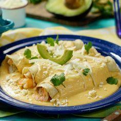 Enchiladas de Camarón en Salsa de Chipotle