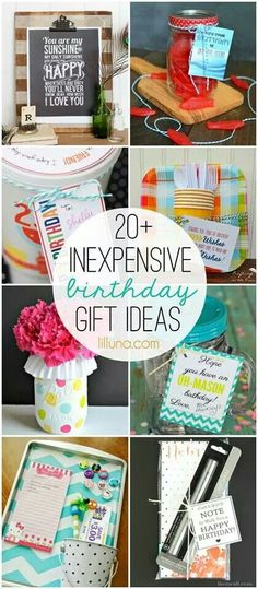 http://lilluna.com/20-inexpensive-birthday-gift-ideas/