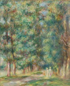 Pierre Auguste Renoir (1841-1919) - A Walk in the Woods - 1910 - Maison de Renoir, Cagnes-sur-Mer, France