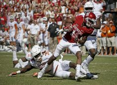 Oklahoma's Dede Westbrook (11) runs past Texas' Edwin Freeman (35) and Kris Boyd (2) for a touchdown during the Red River Showdown college football game between the University of Oklahoma Sooners (OU) and the Texas Longhorns (UT) at Cotton Bowl Stadium in Dallas, Saturday, Oct. 8, 2016. Oklahoma won 45-40. Photo by Bryan Terry, The Oklahoman