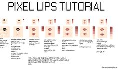 How i pixel lips by decomposing-lotus on DeviantArt