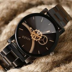 Cheap hombre, Buy Quality hombre reloj Directly from China Suppliers:Women Watches 2017 Brand Top KEVIN Luxury Quartz Wristwatch Fashion Black Series Men Industrial Full Steel Hour relojes hombre Dali, Cool Watches, Watches For Men, Women's Watches, Foto Real, Paris Eiffel Tower, Vintage Paris, Gifts For Girls, Types Of Shoes