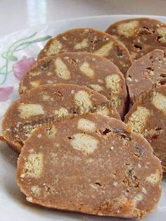 чайная колбаска из печенья