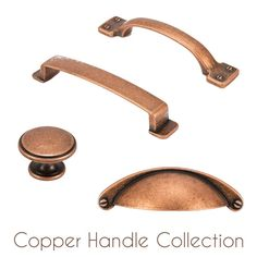 HILBRI Copper Kitchen & Bedroom Cabinet Cup Pull & Knob Handle Collection | eBay