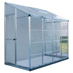 Palram Lean To Grow House 8 ft. x 4 ft. Silver Hybrid Greenhouse Palram Lean To Grow House 8 ft. x 4 Walk In Greenhouse, Greenhouse Effect, Greenhouse Plans, Backyard Greenhouse, Lean To Greenhouse Kits, Homemade Greenhouse, Cheap Greenhouse, Greenhouse Gases, Polycarbonate Roof Panels