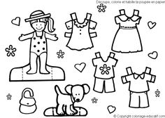 dress coloring pages 2 | gyerekekkel / for kids | pinterest ... - Paper Doll Clothes Coloring Pages