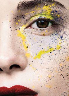 Photo: Fernando Gomez  Painting make up colourful