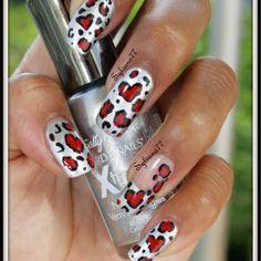 Leopard love nail art nails